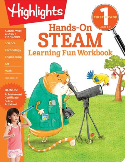 Highlights Learning First Grade Hands-On STEAM Learning Fun Workbook