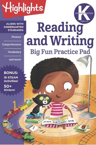 Highlights Learning Kindergarten Reading and Writing Big Fun Practice Pad