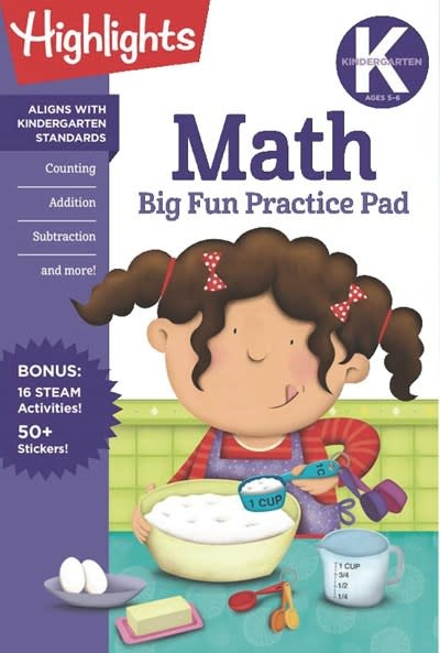 Highlights Learning Kindergarten Math Big Fun Practice Pad