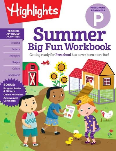 Highlights Learning Summer Big Fun Workbook Preschool Readiness