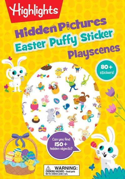 Highlights Press Easter Hidden Pictures Puffy Sticker Playscenes