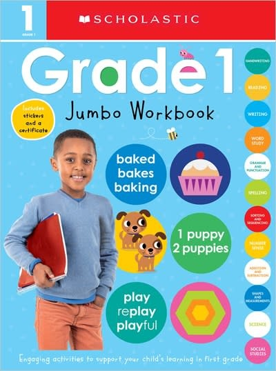 Cartwheel Books First Grade Jumbo Workbook: Scholastic Early Learners (Jumbo Workbook)