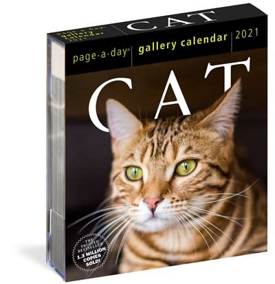 Workman Publishing Company Cat Page-A-Day Gallery Calendar 2021