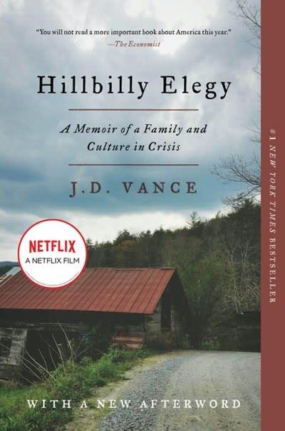 Harper Paperbacks Hillbilly Elegy: Memoir of a Family and Culture in Crisis