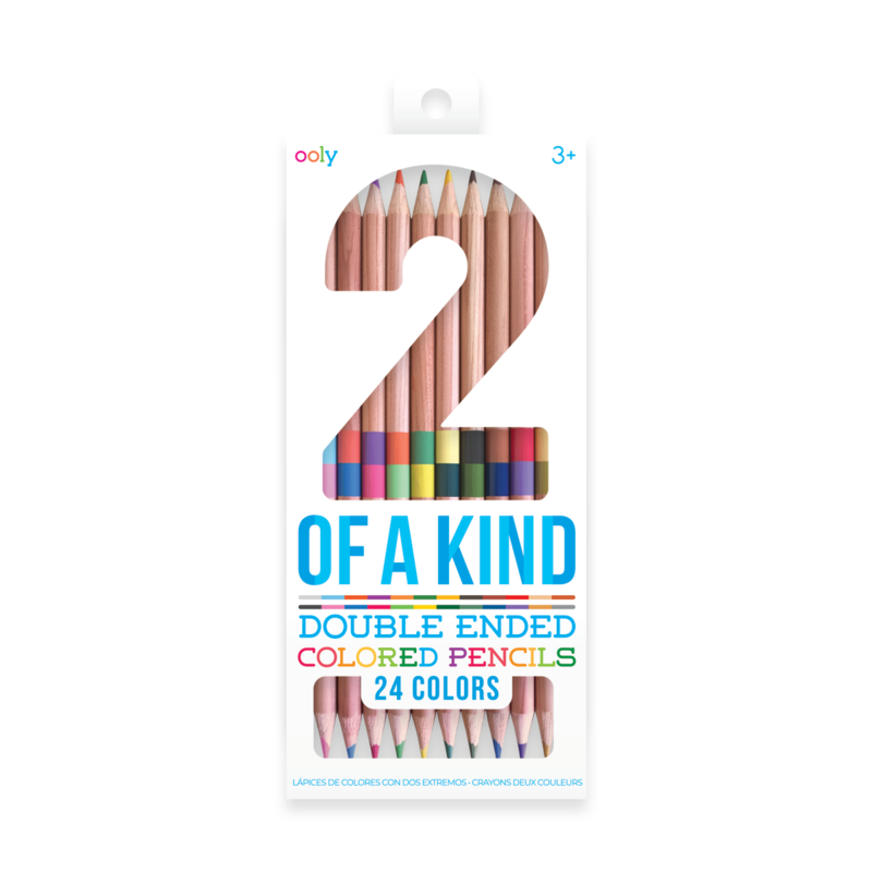 2-of-a-Kind Double-Ended Colored Pencils (Set of 12)