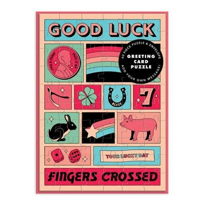 Galison Good Luck Greeting Card Puzzle