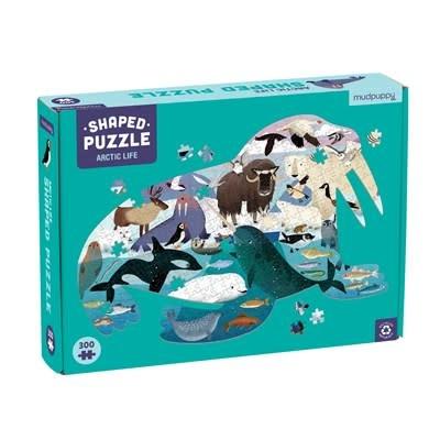 Mudpuppy Arctic Life 300 Piece Shaped Puzzle