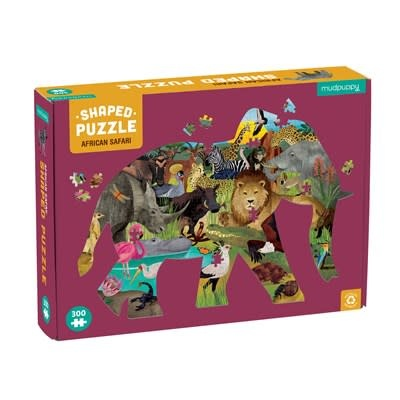 Mudpuppy African Safari 300 Piece Shaped Puzzle