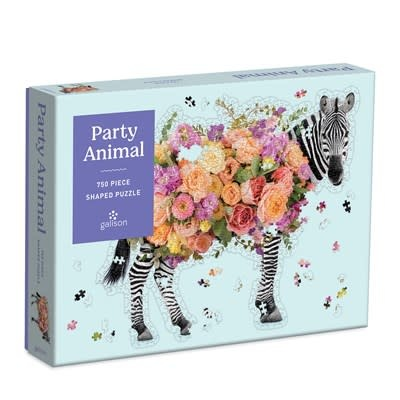 Galison Party Animal 750 Piece Shaped Puzzle
