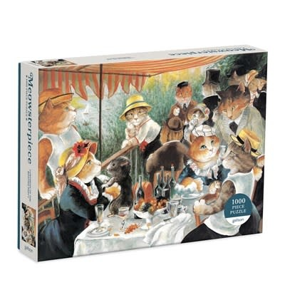Galison Luncheon of the Boating Party Meowsterpiece of Western Art 1000 Piece Puzzle