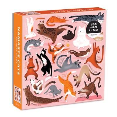 Galison Namaste Cats 500 Piece Puzzle