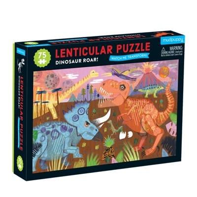 Mudpuppy Dinosaur Roar! 75 Piece Lenticular Puzzle