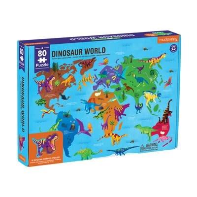 Mudpuppy Dinosaur World Geography Puzzle
