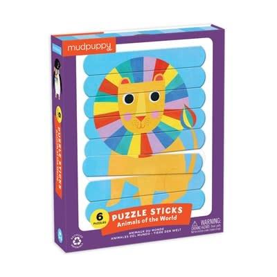 Mudpuppy Animals of the World Puzzle Sticks