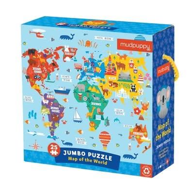 Mudpuppy Map of the World Jumbo Puzzle