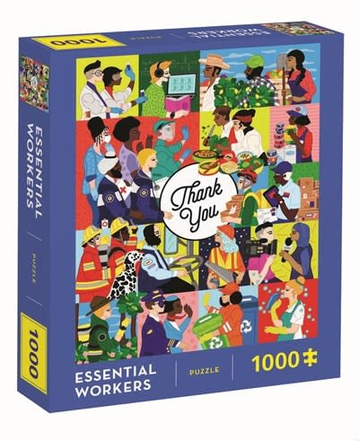 Chronicle Books Essential Workers 1000 Piece Puzzle