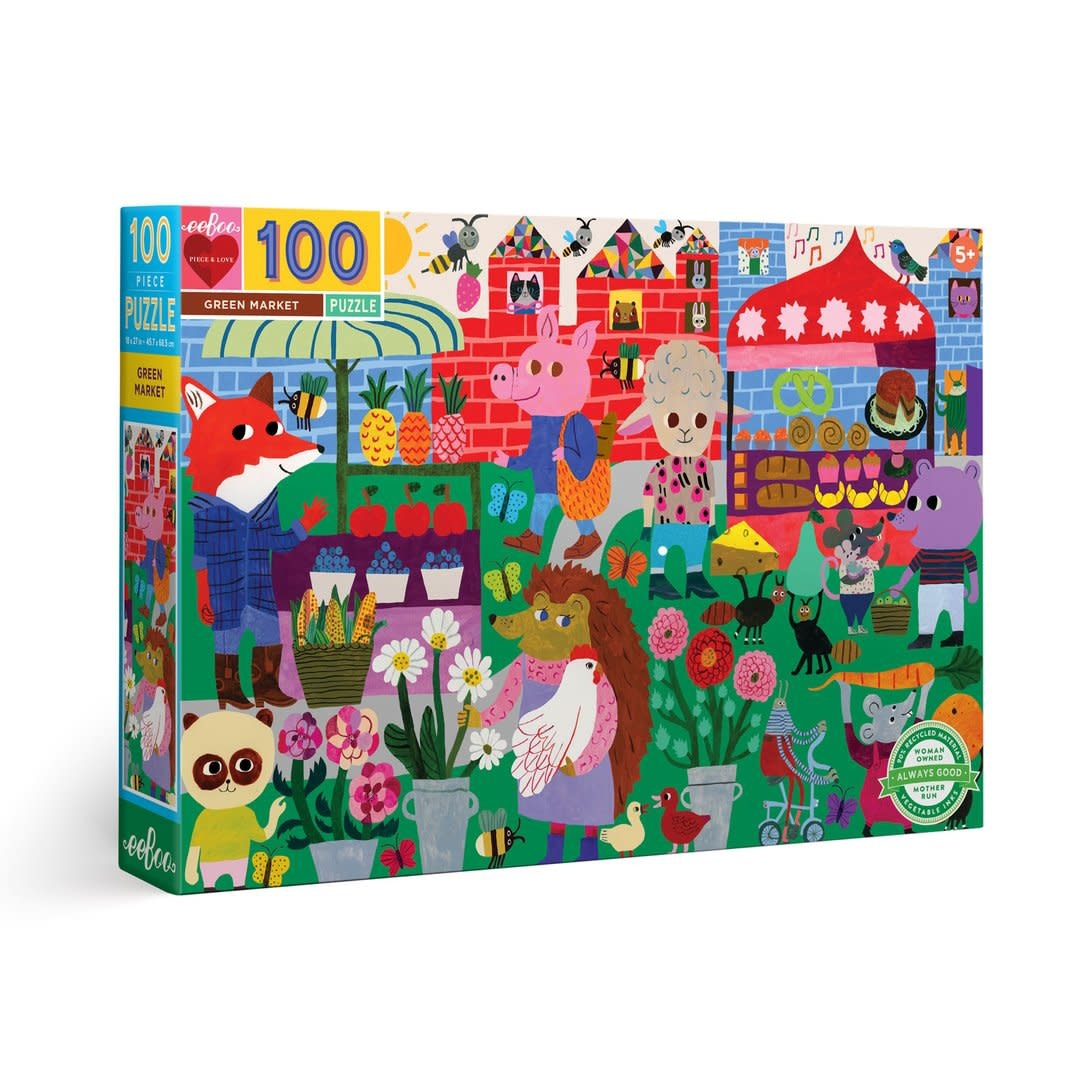 Green Market (100 Piece Puzzle)