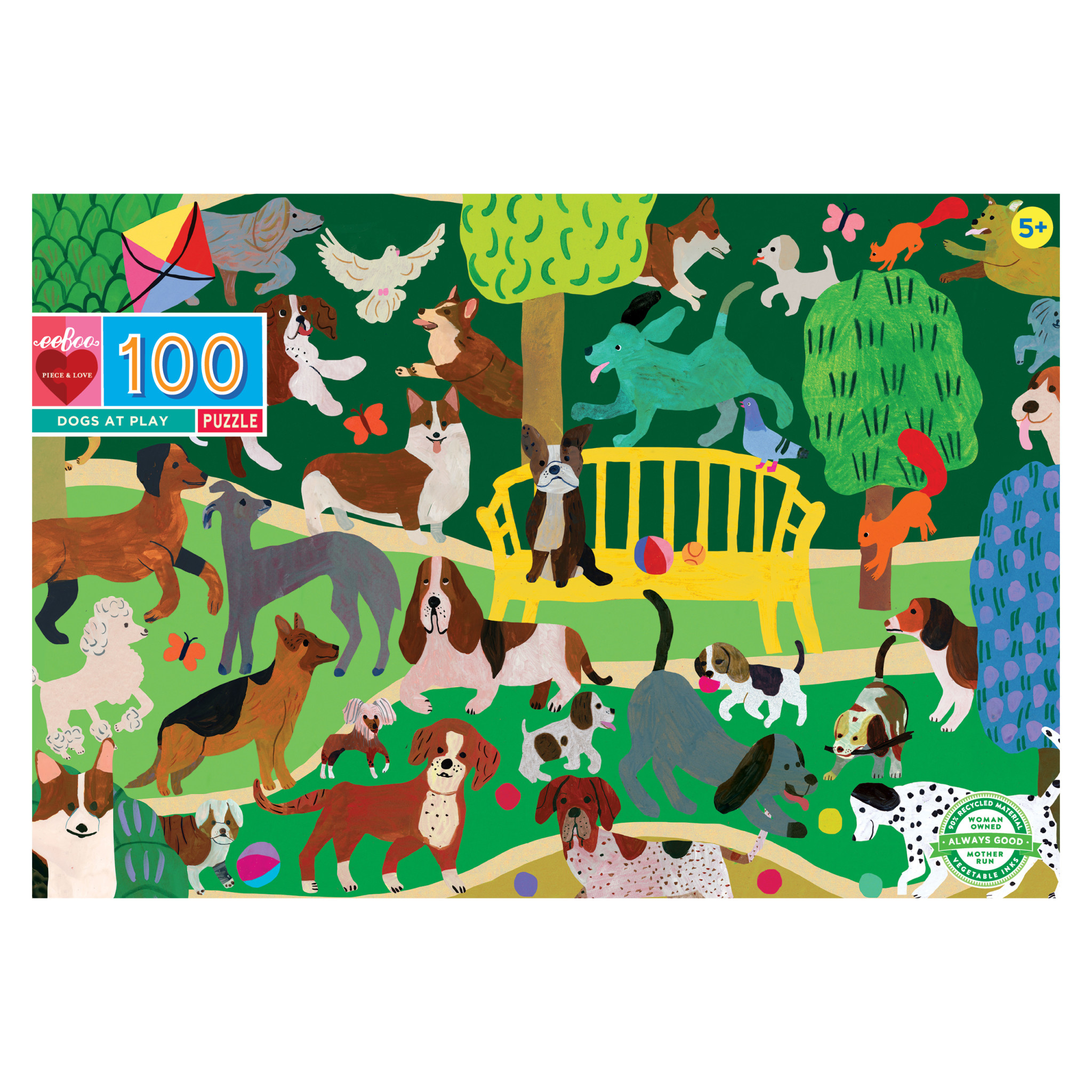 Dogs at Play (100 Piece Puzzle)
