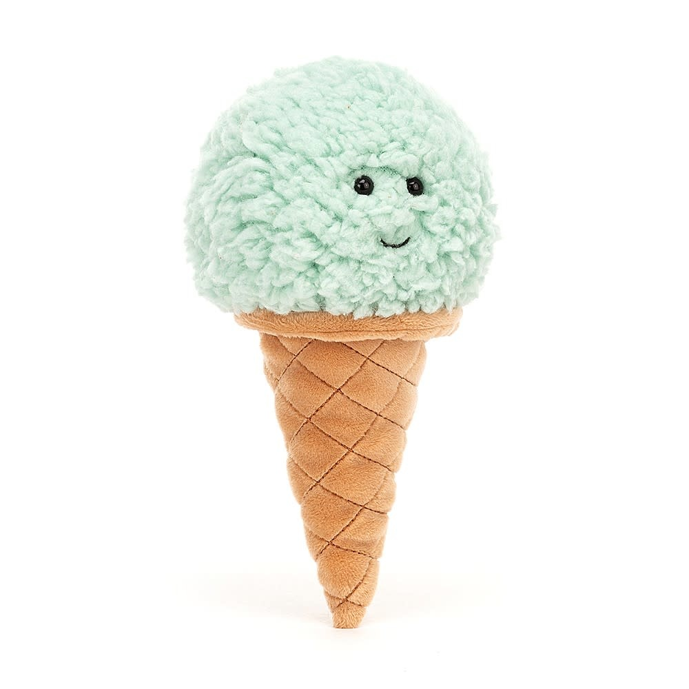 Jellycat Irresistible Ice Cream Mint (Small Plush)