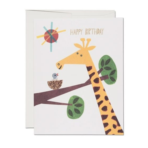 Giraffe Birthday (Birthday Card)