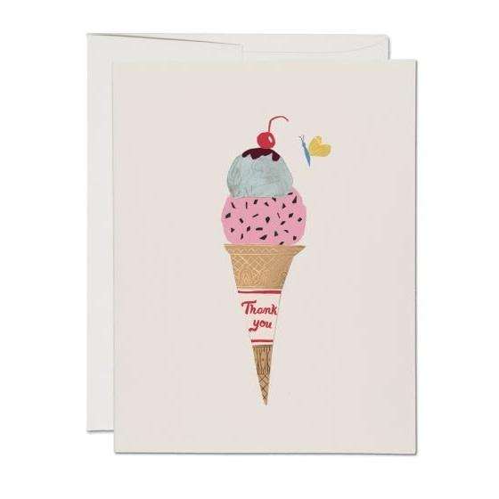 Ice Cream Cone (Thank You Card)
