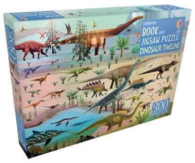 Usborne Dinosaur Timeline - Book & Jigsaw Puzzle