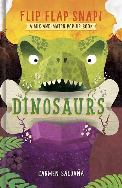 Abrams Appleseed Flip Flap Snap! Dinosaurs