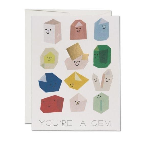 Gem Buddies (Greeting Card)