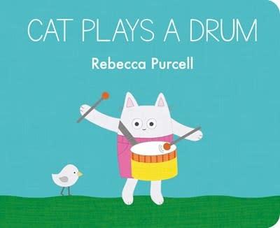 Cat Plays a Drum