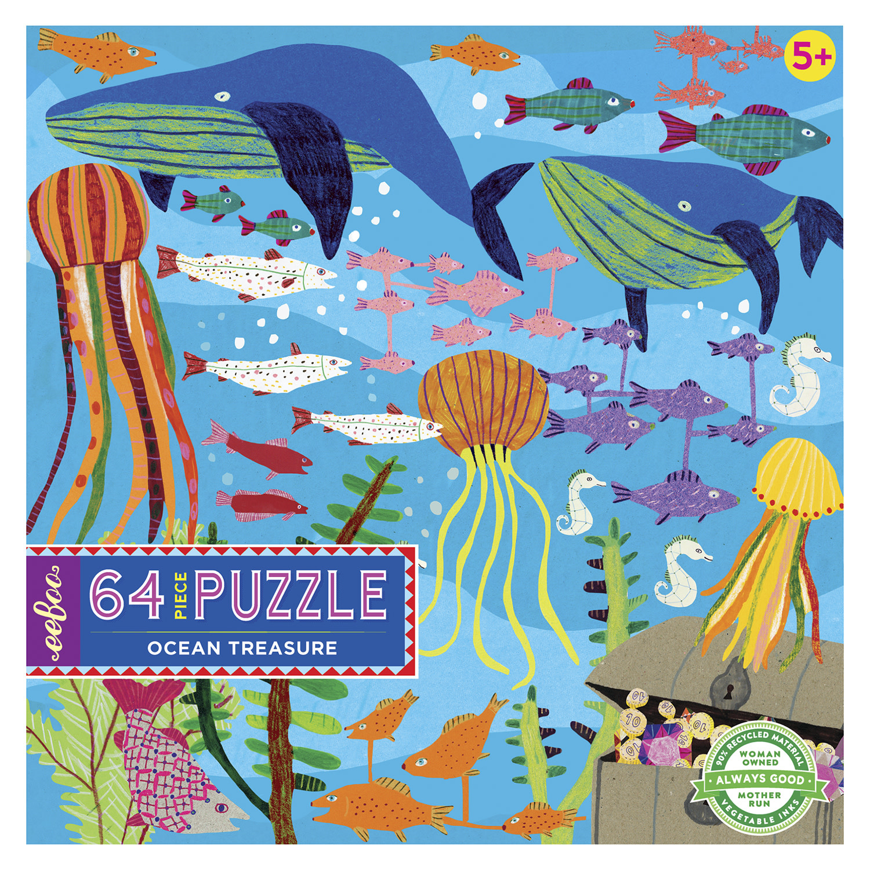 360 Degrees Ocean Treasure (64 Piece Puzzle)