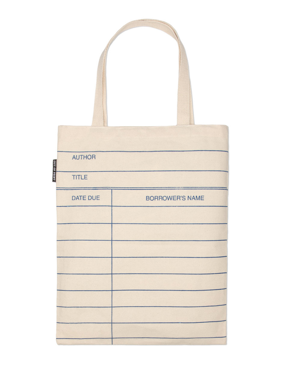 Out of Print Library Card Tote