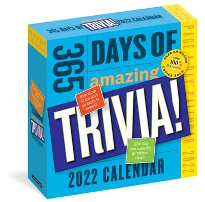 Workman Publishing Company 365 Days of Amazing Trivia! Page-A-Day Calendar 2022