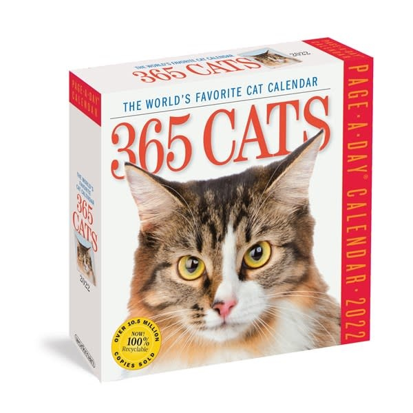Workman Publishing Company 365 Cats Page-A-Day Calendar 2022