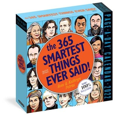 Workman Publishing Company 365 Smartest Things Ever Said! Page-A-Day Calendar 2022