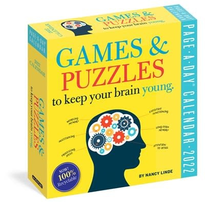 Workman Publishing Company Games and Puzzles to Keep Your Brain Young Page-A-Day Calendar for 2022