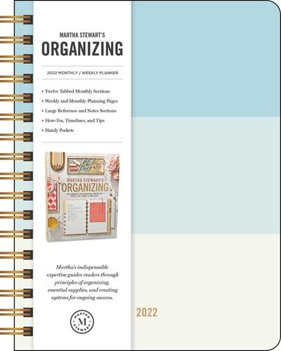 Andrews McMeel Publishing Martha Stewart's Organizing 2022 Monthly/Weekly Planner Calendar