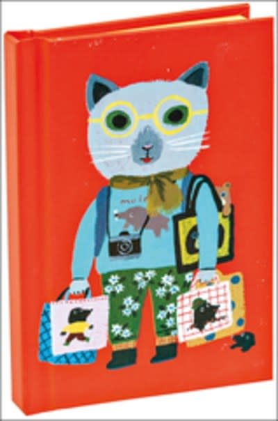 Cat Tourist Cutest Mini Notebook with Dot Grid Pages and Lay Flat Technology