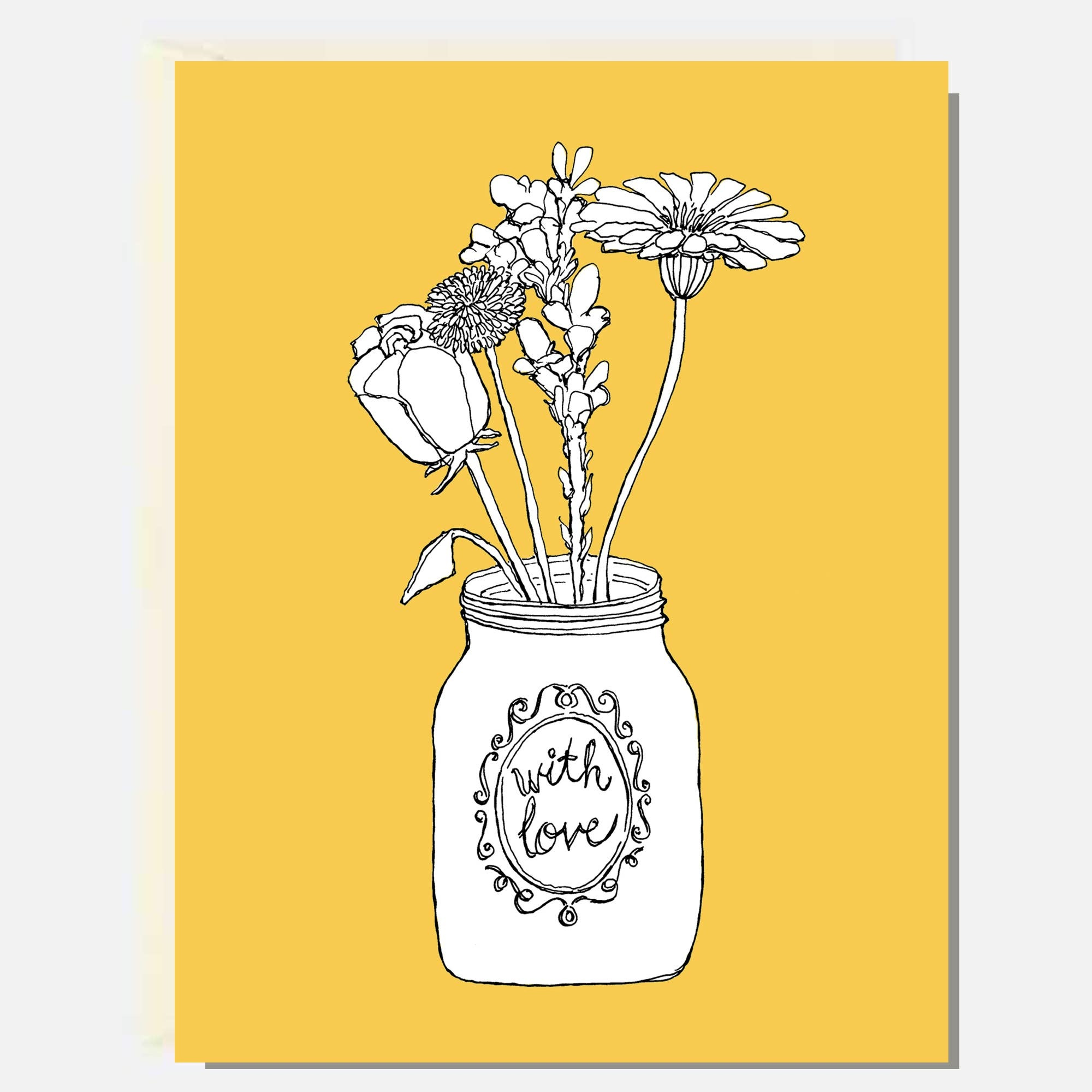 Flowers With Love Card