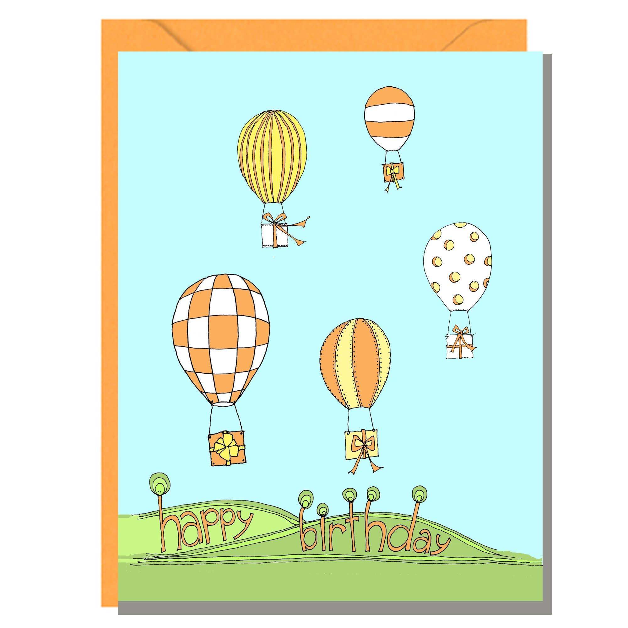 Hot Air Balloon Birthday Card