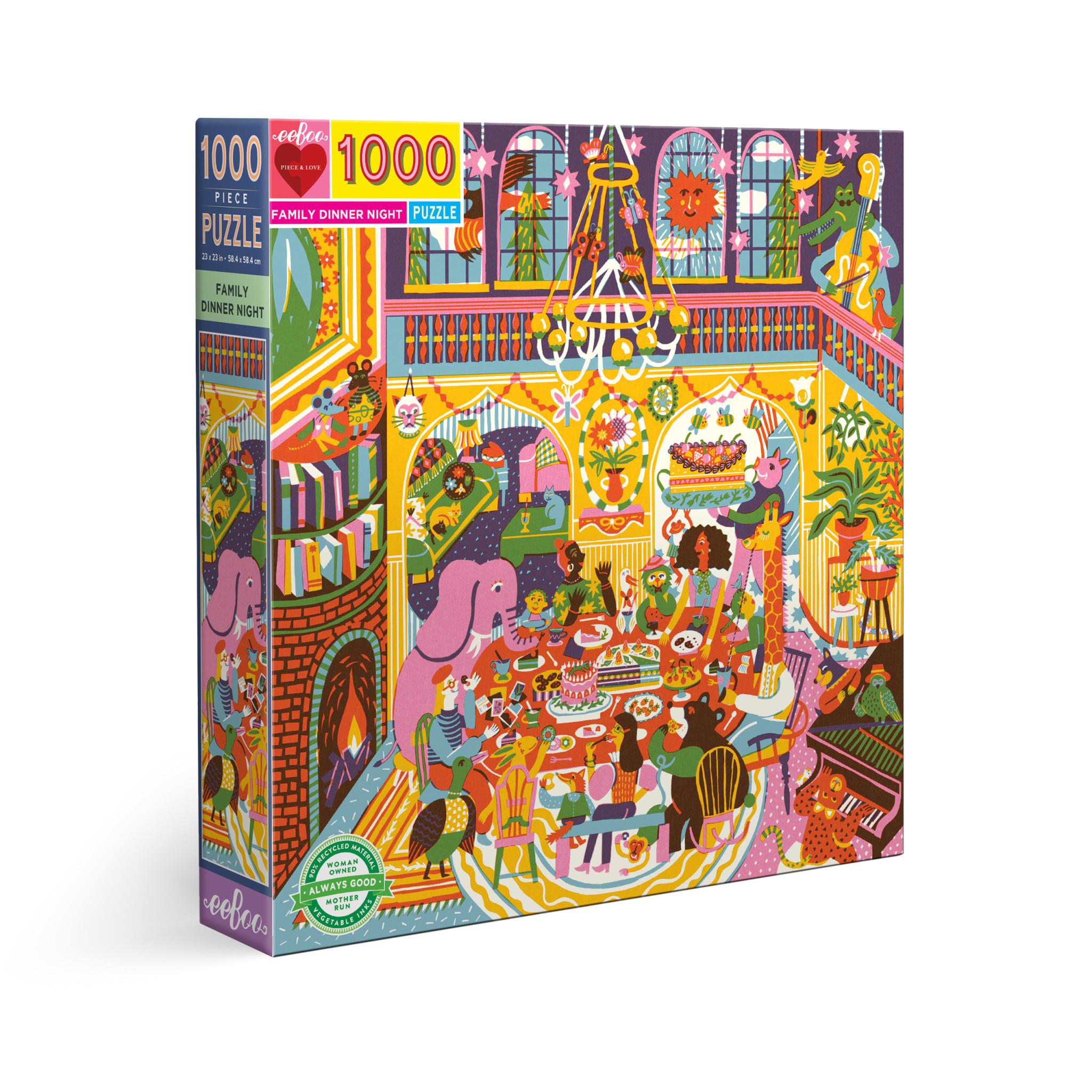 Family Dinner Night (1000 Piece Puzzle)