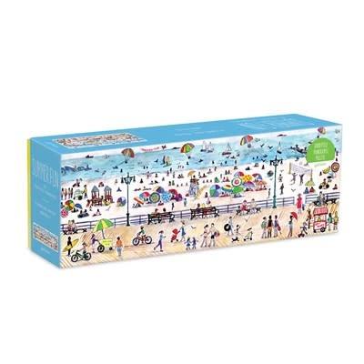 Galison Michael Storrings Summer Fun 1000 Piece Panoramic Puzzle