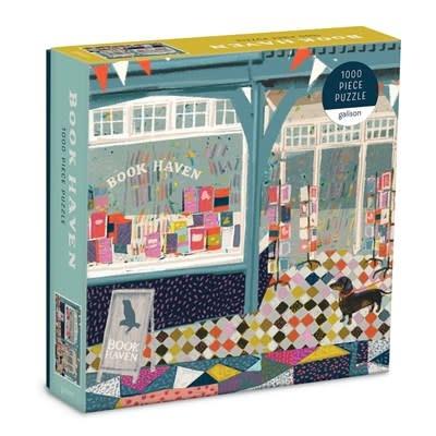 Galison Book Haven 1000 Piece Puzzle In Square Box