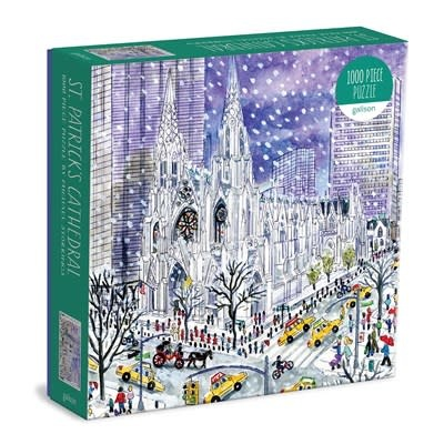 Galison Michael Storrings St. Patricks Cathedral 1000 Piece Puzzle