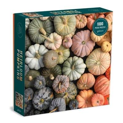 Galison Heirloom Pumpkins 1000 Piece Puzzle in Square Box