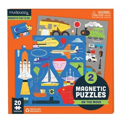 Mudpuppy On the Move Magnetic Puzzles
