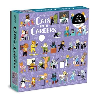 Galison Cats with Careers500 Piece Puzzle