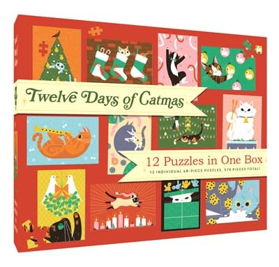 Chronicle Books 12 Puzzles in One Box: Twelve Days of Catmas
