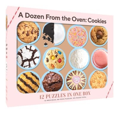 Chronicle Books 12 Puzzles in One Box: A Dozen from the Oven: Cookies