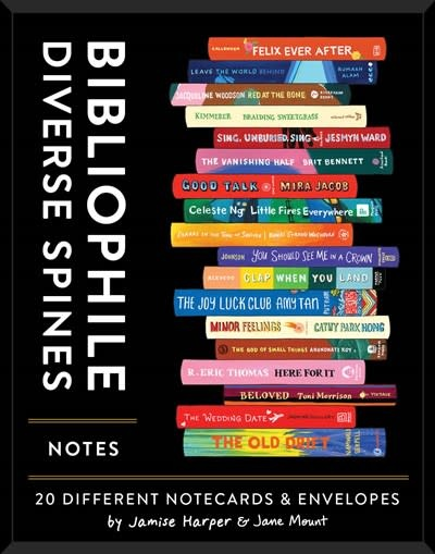 Chronicle Books Bibliophile Diverse Spines Notes