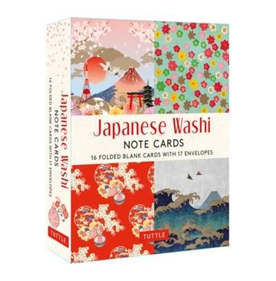 Tuttle Publishing Japanese Washi, 16 Note Cards